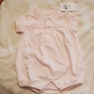 Ralph Lauren Dresses - NWT Ralph Lauren Pink Baby Girl Romper 3M